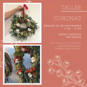 TALLER FLORAL DE CORONA DECORATIVA