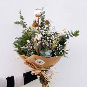"""Ramo de flores Navideño """"Branco"""""""