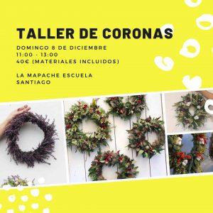Taller floral de coronas navideñas en Santiago de Compostela