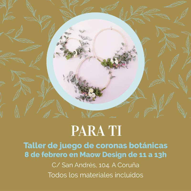 taller floral de juego de coronas botánicas