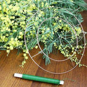 Caja corona de mimosas