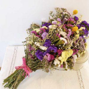 Ramo de flores para secar multicolor
