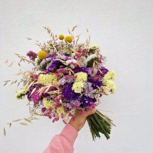 """Ramo de flores para secar """"tonos rosados"""" y """"multicolor"""""""