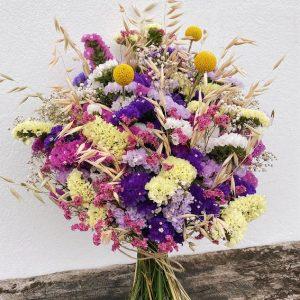 Ramo de flores para secar «tonos rosados» y «multicolor»