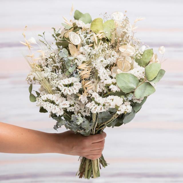 ramo flores rosalia blanco
