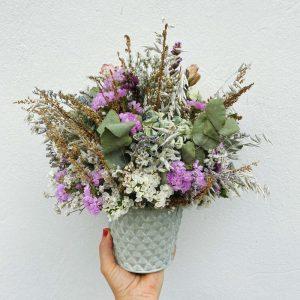 """Macetita con flores secas """"Augamariña"""""""