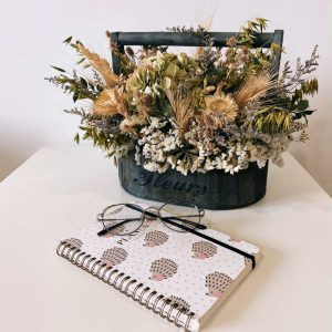 Cesta Vintage de flores secas