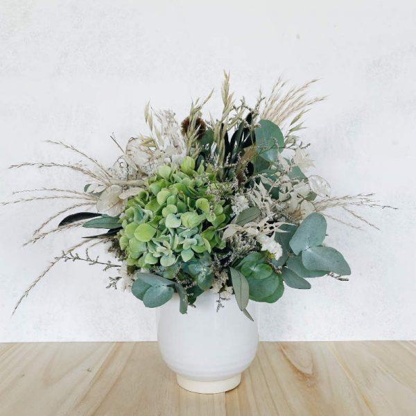 macetita brétema hortensias,limonium,